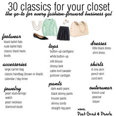 30 Classics for Your Closet