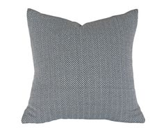 Black White Herringbone Pillow Menswear by PillowThrowDecor