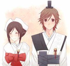 Shinsekai yori   at the end, satoru and saki got married..Glad that its not about yaoi or yuri things