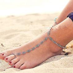 Multilayer Chain Hollow Flower Anklets For Women Anklets Bracelet On leg Barefoot Sandals Foot Jewelry Anklet Leg Bracelet 3309