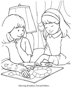 showing kindness toward others coloring sheet