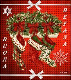 Christmas Stocking Good Morning Buen Dia Bonjour