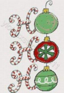 Ho Ho Ho Christmas cross stitch kit or pattern   Yiotas XStitch