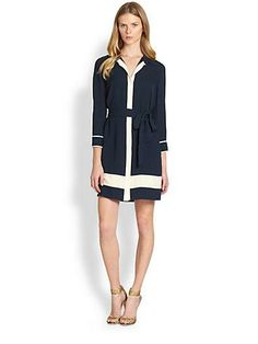 DVF's cadence dress is begging to be worn on a sailboat this spring and summer!