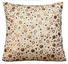 Handmade Gold Decorative Throw Pillow Covers Accent Pillow
