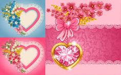 Image result for hearts and flowers background