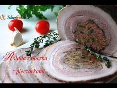 Rolada z boczku z pieczarkami - TalerzPokus.tv - YouTube Hummus, Ethnic Recipes, Youtube, Food, Essen, Meals, Youtubers, Yemek, Youtube Movies