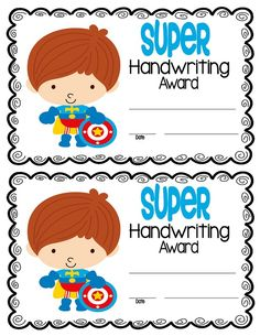 Free Superhero themed certificates for the end of the year- exclusive for my Facebook fans.