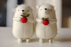 The cutest of the cutest - wee felt animals made by Mia of Manomine