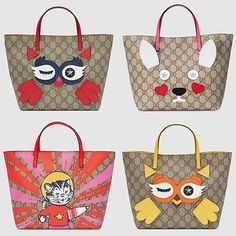 Gucci Animal Bag Collection - owl, cat and rabbit