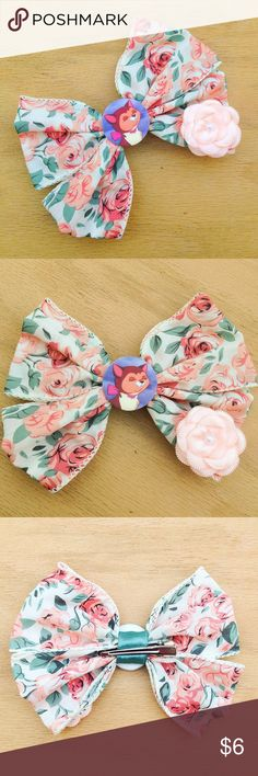 "🆕 Dinah Hair Bow Handmade bow with a Dinah charm. This is themed after Disney's Alice in Wonderland.  We offer 15% off on all bundles. You can ""Add to Bundle"" to get discount.  Most items listed are ready to ship but if you need something sooner please let us know before ordering.  Thank you for shopping my closet! Magic Main Street Accessories Hair Accessories"