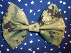 Navy NWU type 3 Hair Bow by AnAnchorOfLove on Etsy