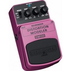 Behringer Distortion Modeler DM100 Guitarra / Bajo Efectos Pedal
