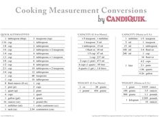 Al Dente Conversion Chart  Measurement Conversion Cooking