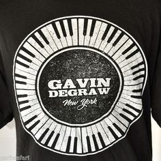 Gavin DeGraw New York 2012 Concert Tour XXL T-shirt USA Summer Dance w/Stars