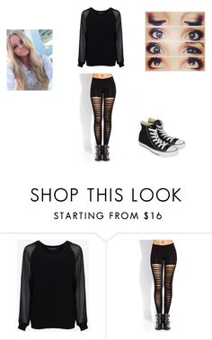 """""""Untitled #84"""" by melissa-rassey ❤ liked on Polyvore featuring French Connection, Forever 21 and Converse"""