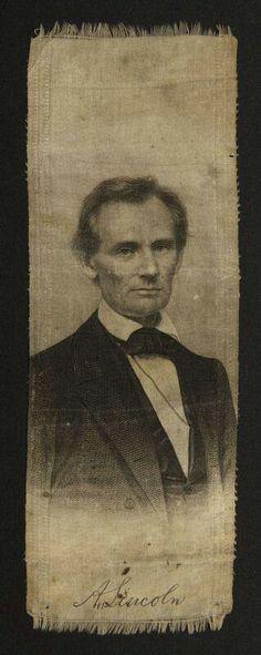 Lincoln campaign ribbon 1860...