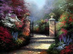 Thomas Kinkade  Paintings - No board on art appreciation would be complete without at least one Thomas Kinkade painting!  I love every one of his beautiful paintings!  He died just recently, only in his early 50's.  What a gift he left for the world in his artwork!!
