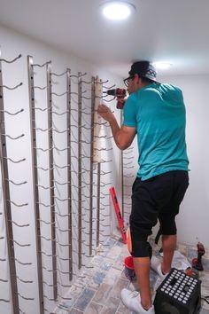 DIY Home Wine Cellar: Utilizing Space Under The Stairs Understairs Ideas cellar DIY home Space stairs utilizing wine Glass Wine Cellar, Home Wine Cellars, Wine Cellar Design, Wine Cellar Racks, Wine Rack Storage, Wine Rack Wall, Wine Wall, Extra Storage, Hidden Storage