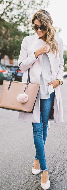 Pink Ballerina Flats Fall Inspo by Hello Fashion