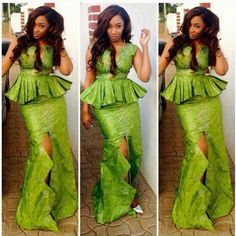 More Aso Ebi Styles Of The Week;Green
