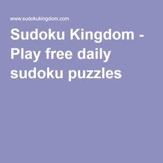 Sudoku Kingdom - Play free daily sudoku puzzles