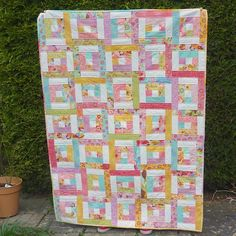 Quilting:  Jelly Roll Quilt Pattern Backyard Bella