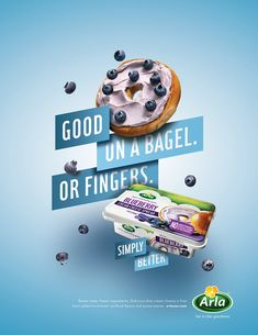 Print, poster and digital campaign introducing Arla cream and sliced cheese to the US market. Food Poster Design, Graphic Design Posters, Food Design, Graphic Design Inspiration, Flyer Design, Typography Design, Food Typography, Retro Typography, Creative Typography