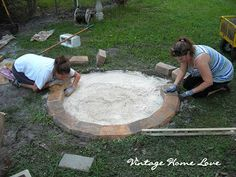 Vintage Home Love: DIY Fire Pit...step by step