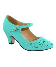 Loving this Mint Mina Pump on #zulily! #zulilyfinds