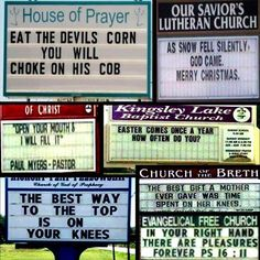 Funny church signs: because sometimes religion pokes fun of itself