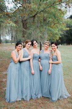 Cypress Grove Estate House wedding .  dusty misty serenity slate blue .   bridesmaids Jenny Yoo - Annabelle Mayan Blue ,   - lara b-4