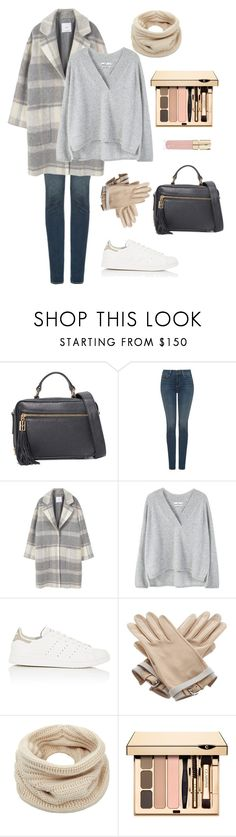 """""""Early spring neutral look"""" by elpina ❤ liked on Polyvore featuring Milly, NYDJ, MANGO, adidas, Hermès, Helmut Lang and Smith & Cult"""