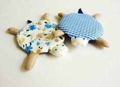 Turtle Coasters Set of 4 by dancingintherains on Etsy