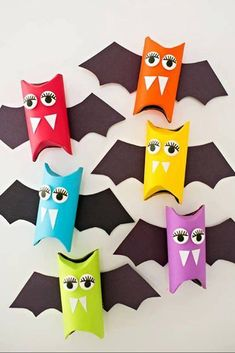 Toilet Paper Roll Bat Art Project #Craft