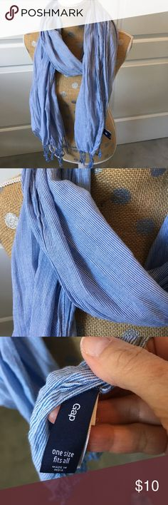 Gap pinstripe lightweight scarf! Perfect condition-like new! Perfect in warmer weather when a breeze picks up in the evening! GAP Accessories Scarves & Wraps