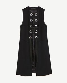 Image 8 of LONG WAISTCOAT WITH METALLIC DETAILS from Zara