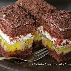 Polish Cake Recipe, Polish Recipes, Croatian Recipes, Wedding Desserts, Pumpkin Cheesecake, Piece Of Cakes, Food Cakes, Something Sweet, Cupcake Recipes