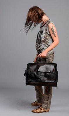 Black Leather Tote Bag / Messenger Bag / by EllenRubenBagsShoes, $429.00