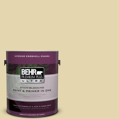 BEHR Premium Plus Ultra 1-gal. #M310-3 Champagne Cocktail Eggshell Enamel Interior Paint