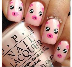 Piggy nails- Amara loves manicures, so why not themed manicures to go along with nursery rhymes? :D