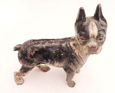 ANTIQUE CAST IRON BULL DOG ART STATUE HOME PATIO DOOR DOORSTOP #Americana #Antique