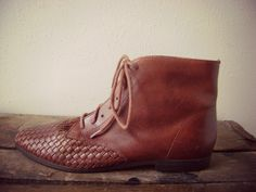 posting cool boots all week long, these bad boys are size 7, cognac brown leather goodness.  www.etsy.com/shop/roadkillvintage SOLD