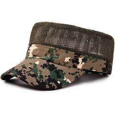 Men Women Mesh Clamouflage Flat Top Hat Baseball Peaked Cap at Banggood