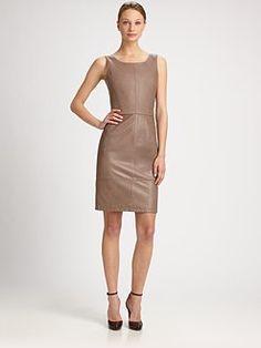 Armani Collezioni - Seamed Leather Dress