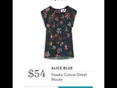 Stitch Fix Item: Alice Blue Paseka Cutout Detail Blouse #stitchfix