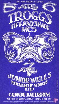 Troggs at Grande Ballroom 4/5-7/68 by Gary Grimshaw