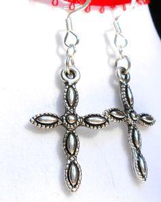 Lovely Cross Earrings by bbcreations on Etsy, $10.00