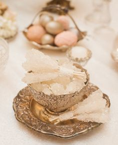 Persian Wedding Aghd ceremony Nabat Sofreh Aghd by MuguetDesign Iranian Wedding, Persian Wedding, Wedding Hall Decorations, Wedding Table Centerpieces, Bohemian Wedding Theme, Dream Wedding, Wedding Rice, Haft Seen, Event Decor