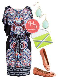 Sangria Sunrise Dress by modcloth on Polyvore featuring polyvore fashion style clothing